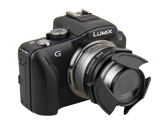 LUMIX G VARIO 12-32mm F3.5-5.6用自動開閉キャップ