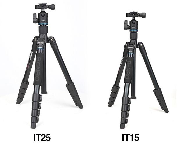 BENROトラベルセパレート三脚 アルミ アイトリップ自由雲台セット「IT25」「IT15」