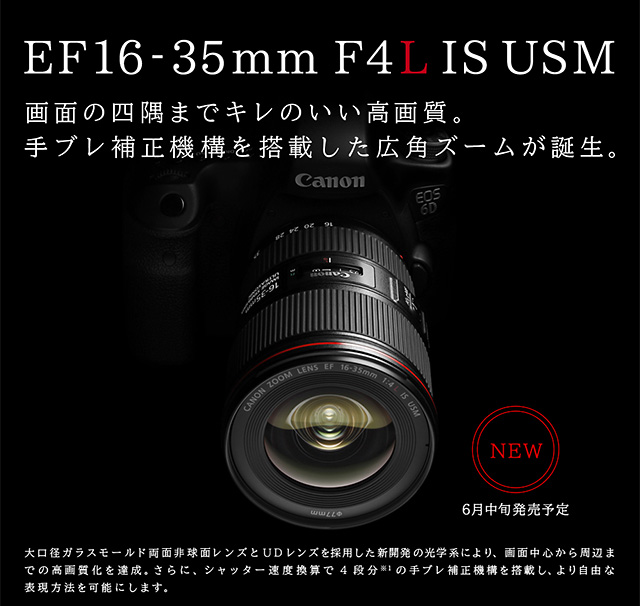 EF16-35mm F4L IS USM