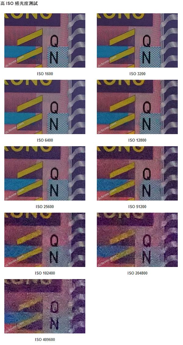 α7s ISO感度別画像
