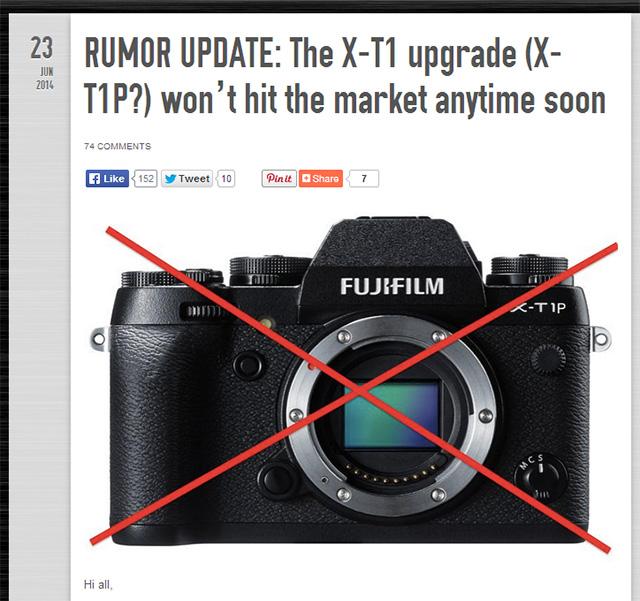 X-T1の後継機「X-T1b」「X-T1P」は発売されない