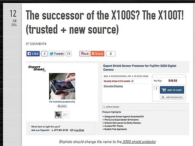 X100Sの後継機はX100T
