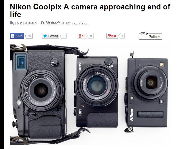Coolpix Aがディスコン