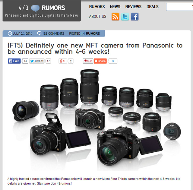 パナソニックの新型マイクロフォーサーズカメラ
