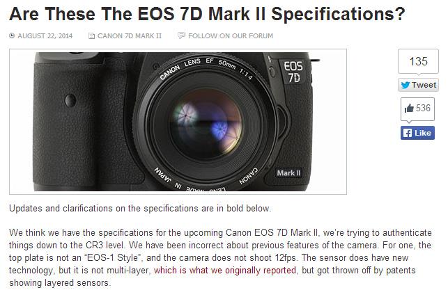 【更新】7D MarkIIはスペックまとめ。