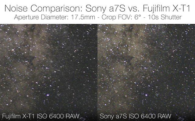 α7S vs X-T1!!ISO64000の星空撮影勝負