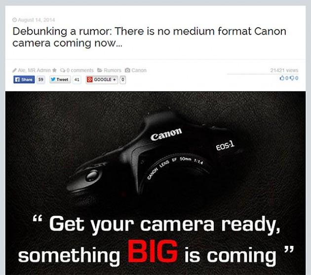 キヤノンは中判カメラを作らないが、富士フイルム、ニコン、ソニーは中判カメラを開発する!?