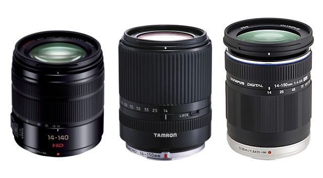 パナソニック「LUMIX G VARIO 14-140mm F3.5-5.6 ASPH. POWER O.I.S.」vs タムロン「14-150mm F/3.5-5.8 Di III(Model C001)」 vs オリンパス「M.ZUIKO DIGITAL ED 14-150mm F4-5.6」