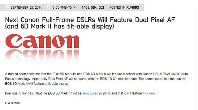 キャノン「EOS 5D Mark IV」&「EOS 6D Mark II」