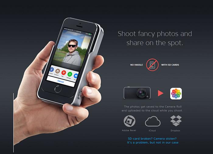 iPhoneにAPS-Cセンサーとレンズを付けるデジカメケース「Relonch Camera」