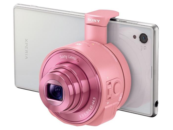 レンズスタイルカメラ「DSC-QX10」(ピンク)