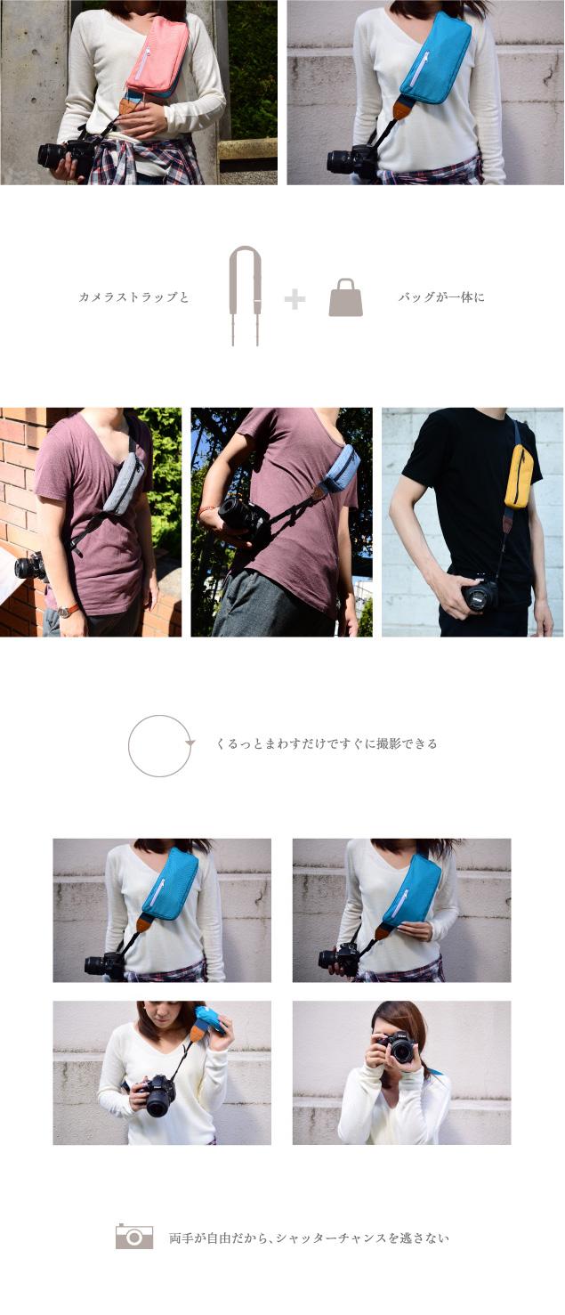 カメラストラップとバッグが一体に「GH-CBSAシリーズ」