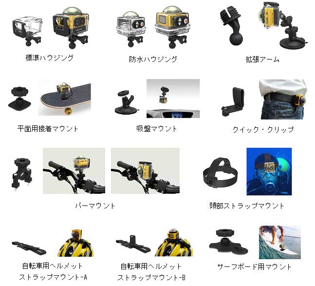 マスプロがアクションカム「Kodak PixPro SP360」