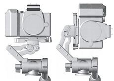 Velbon 雲台でのカメラ縦横を切り替える、新型アングルチェンジャー