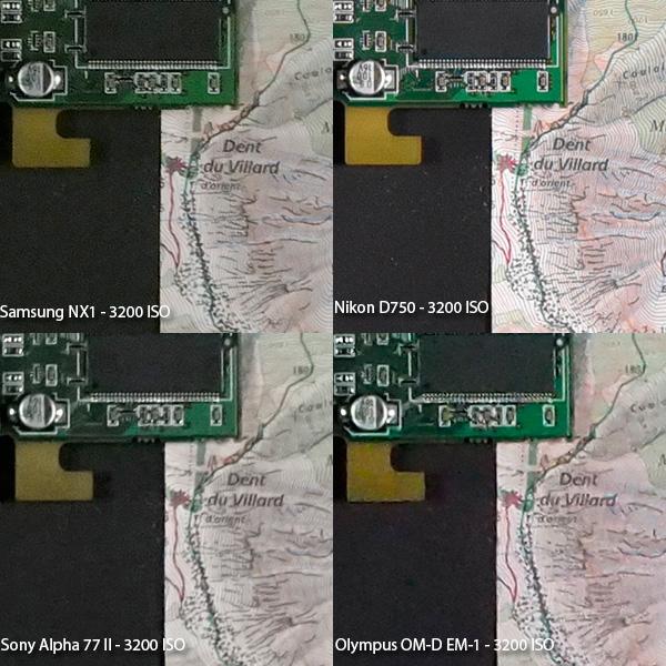 Samsung NX1 vs D750 vs α77II vs OM-D EM-1!高感度 (ISO3200) 対決!