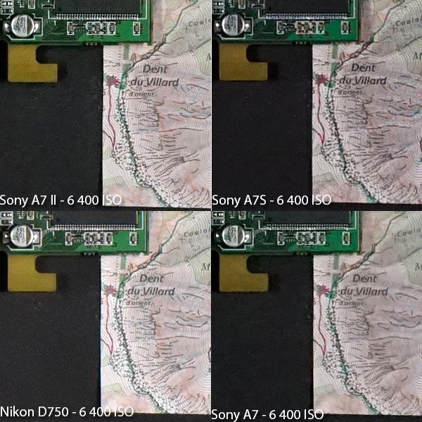 α7 II vs α7S vs α7 vs D750 !!高感度ISO6400対決