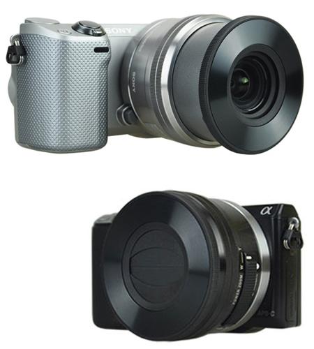 オリエンタルホビー ソニーE PZ 16-50mm F3.5-5.6 OSS用の自動開閉キャップ