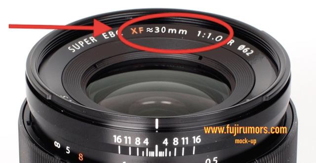 富士フイルム XF30mmF1.0 Rを開発中!?