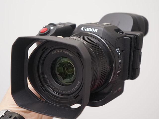 キヤノン 小型軽量で1インチセンサー採用の業務用4Kカメラ「XC10」発表。