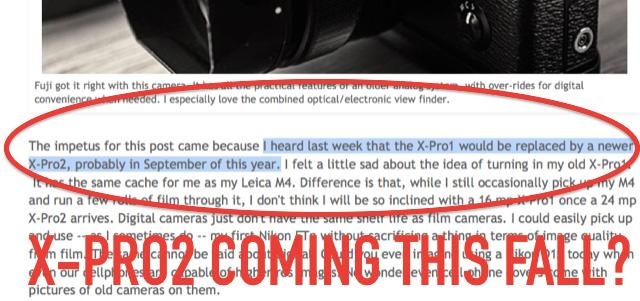 富士フイルム「X-Pro2」9月か10月に登場!?