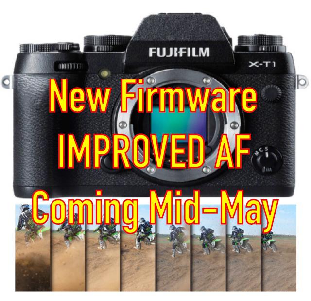 富士フイルムがX-T1の新ファームウェアを5月11日にリリースする!?AF性能が向上!?