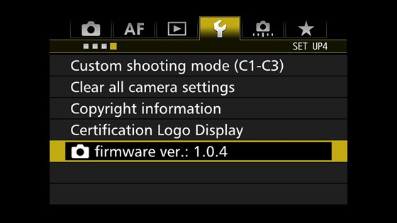 EOS 7D Mark II ファームウェアver1.0.4