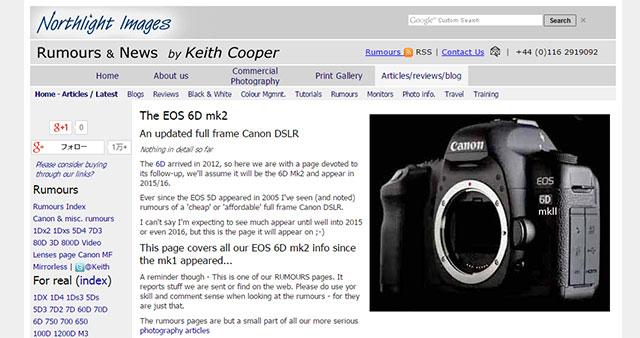 イギリスのカメラ雑誌が、キヤノン 6D Mark II の広告を掲載!?今年後半に登場する!?