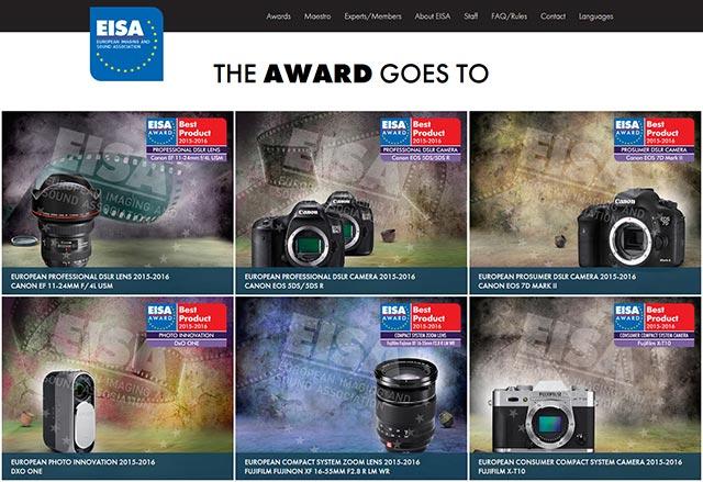 EISA Awards 2015-2016の製品が決定!