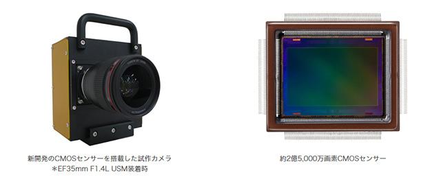 キヤノンが約2億5,000万画素のAPS-HサイズのCMOSセンサーを開発。