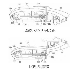 キヤノンの縦位置のバウンスに対応した内蔵ストロボの特許