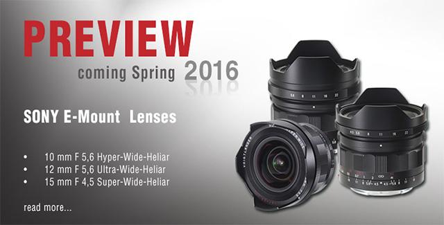 Voigtlander ソニーEマウント用レンズ「10mm F5.6 Hyper-Wide-Heliar」「12mm F5.6 Ultra-Wide-Heliar」「15mm F4.5 Super-Wide-Heliar」