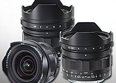 Voigtlander ソニーEマウント用レンズ「10mm F5.6 Hyper-Wide-Heliar」「12mm F5.6 Ultra-Wide-Heliar」「15mm F4.5 Super-Wide-Heliar」