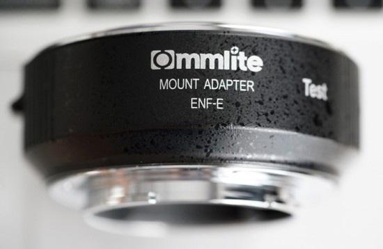 Commlite ソニーEマウント用 電子接点付AF対応 ニコンFマウンアダプター