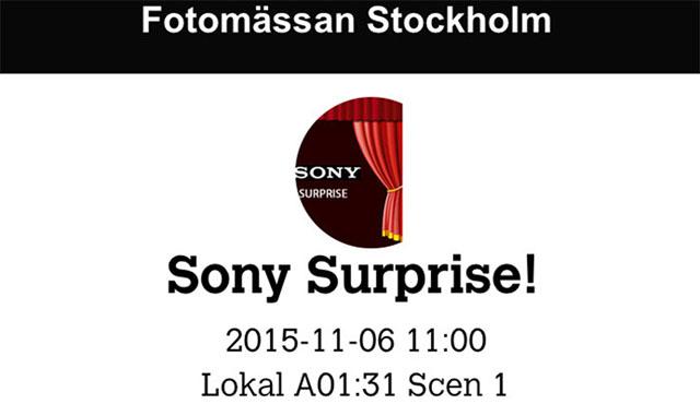 ソニーがストックホルムで11月6日にサプライズイベントを開催!?α68を発表!?