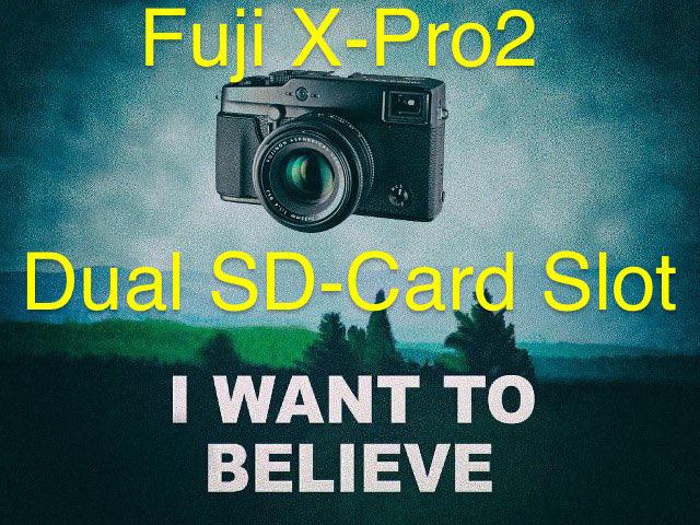 富士フイルム「X-Pro2」は、やっぱりデュアルSDカードスロットになる!?