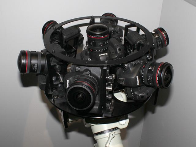 EOS 6Dを7台使用した高感度・高解像度の全方位カメラシステム