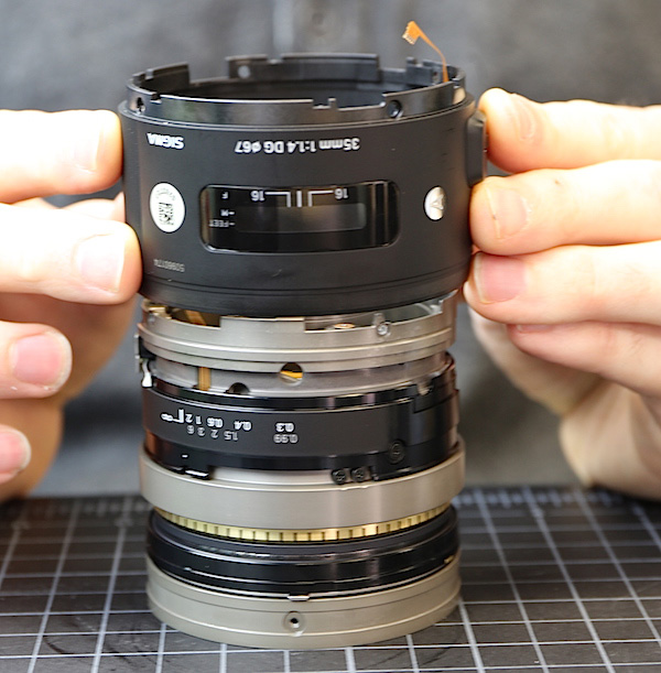 SIGMA 35mm F1.4 DG HSM | Artの分解方法。