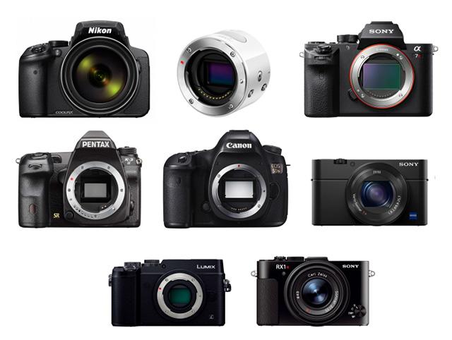 2015年「歴史的カメラ」8機種発表!COOLPIX P900、OLYMPUS AIR A01、K-3II EOS 5Ds、α7R II、LUMIX GX8、RX1R II
