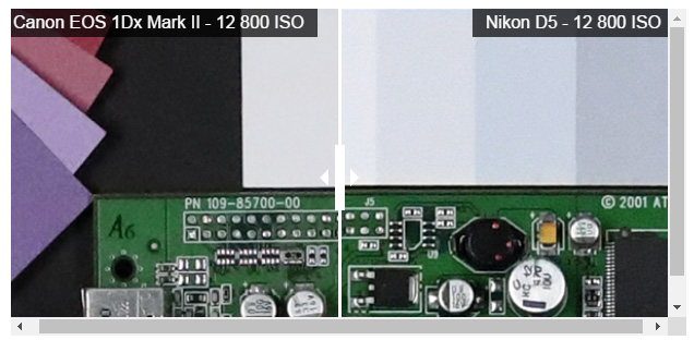 EOS-1D X Mark II vs D5!高感度画像比較。