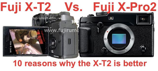 富士フイルム X-T2 vs X-Pro2