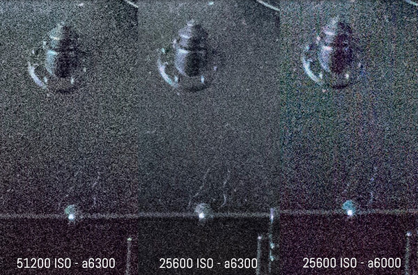 ソニー α6300 vs α6000!高感度画像比較。