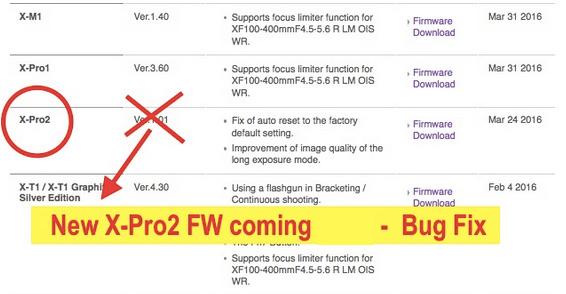 富士フイルム X-Pro2のブラックフレーム問題を修正するファームウェアがリリースされる!?
