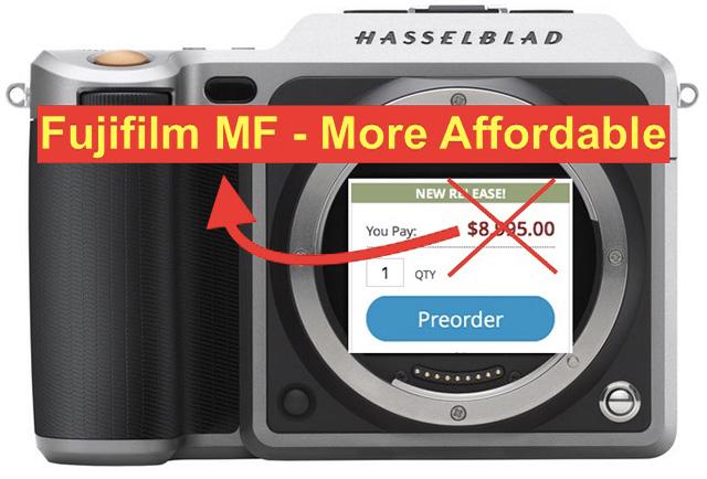富士フイルムの中判は、ハッセルブラッドの中判ミラーレス「X1D」よりも手頃な価格になる!?