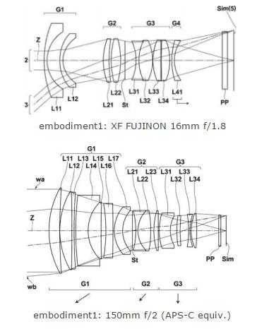 富士フイルムが「XF16mmF1.8 R WR」と「XF150mmF2 R」を開発中!?