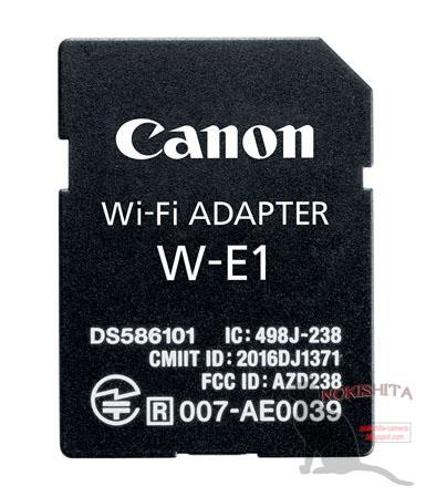 キヤノンのSDカード型Wi-Fiアダプター「W-E1」