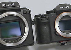 GFX 50S vs α7R II