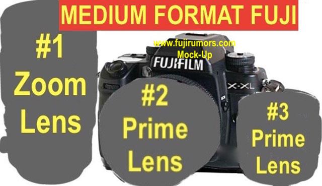 富士フイルムの中判カメラには、100~120mmあたりの単焦点マクロ50mmあたり、標準単焦点、20-60mmあたりの標準ズームが用意される!?