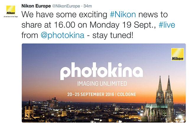 ニコンはフォトキナで新しい「何か」を発表する模様。