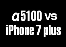 iPhone 7 plus vs α5100!ボケ勝負。