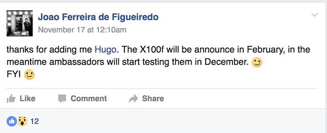 富士フイルムX100Fのベータテストが近似中に行われる!?